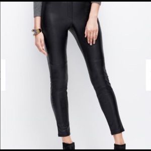 Like-New Ann Taylor Black Faux Leather Leggings